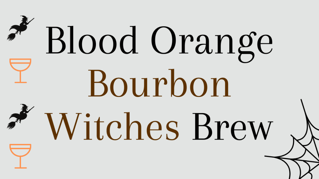 Halloween whiskey cocktails - Blood orange