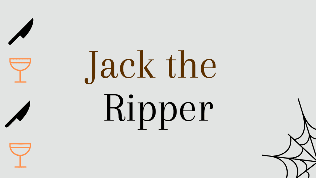 Halloween whiskey cocktails - Jack the ripper