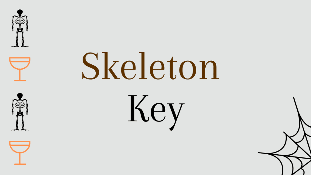 Halloween whiskey cocktails - Skeleton Key