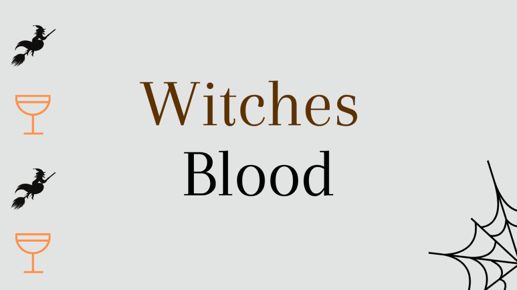 Halloween whiskey cocktails - Witches blood